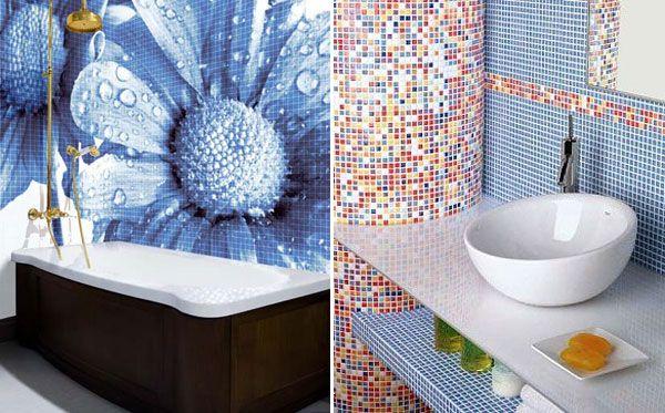 Дизайн ванна из мозаики